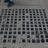 Havre, MT - purple glass squares to help light Havre underground  - 8-12-16