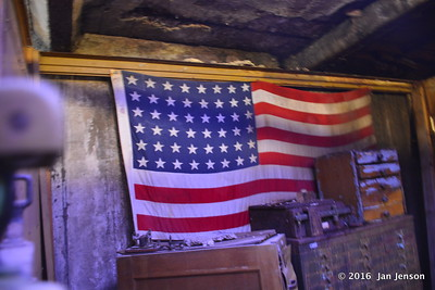 48 star flag in post office in Havre Underground Tour - Havre, MT -  8-12-16