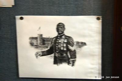 Buffalo Soldier poster in Havre Underground  8-12-16
