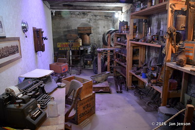 Workshop area in Havre Underground Tour - Havre, MT -  8-12-16