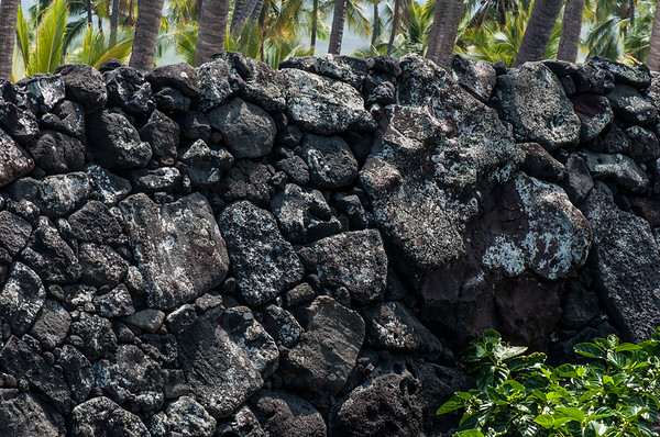 Lava Rock Wall