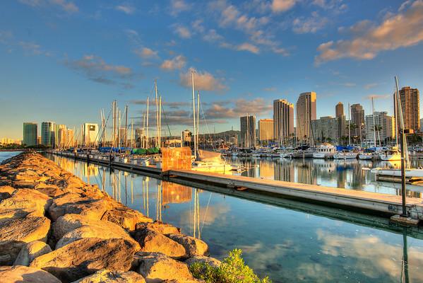 Hawaii 11/2/2012 Sunrise Over Waikiki