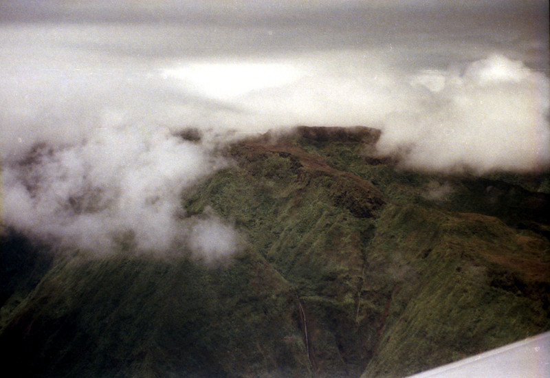 View of Maui from plane