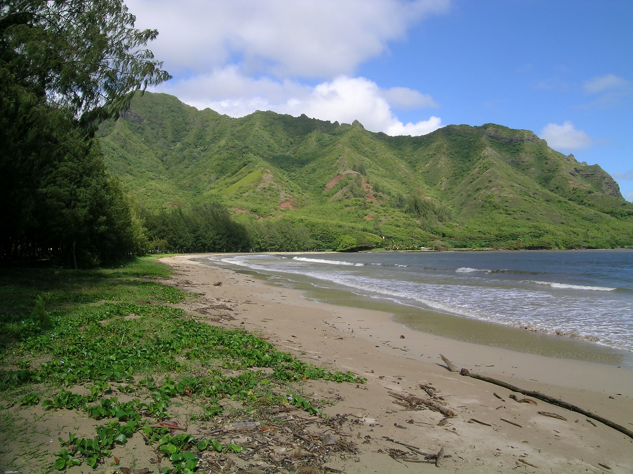 Kahana park peach probably about a mile north of us