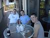 Lewis, Matt and jason enjoying coffee and champs.