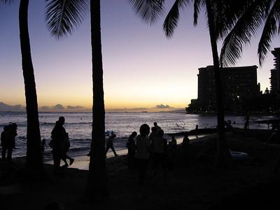 2006-07-27 to 7-30  Waikiki Sunsets