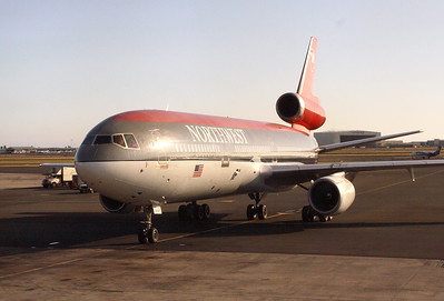 Our ship that will take us to Minneapolis has arrived at the Honolulu Airport (HNL), Oahu, Hawaii. One of the last Northwest flights operated by DC10-30.