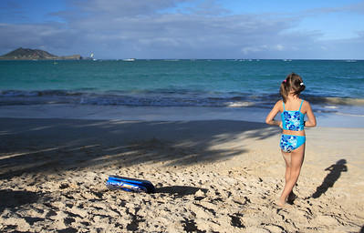Anna at Kailua Beach, Oahu, Hawaii