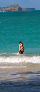 Mike and Anna in Kailua Beach, Oahu, Hawaii
