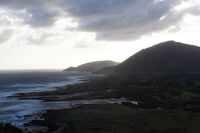View to the southwest from Makapuʻu Point, Oahu, Hawaii.