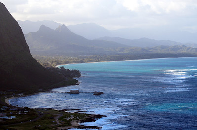 View from Makapuʻu Point, Oahu, Hawaii. Waimanalo and Kailua in the back.