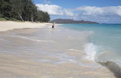 View north. Waimanalo Beach, Oahu, Hawaii