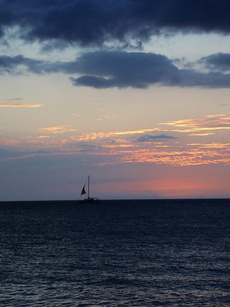 06/28/06: Sunset on Kawaihae Bay.