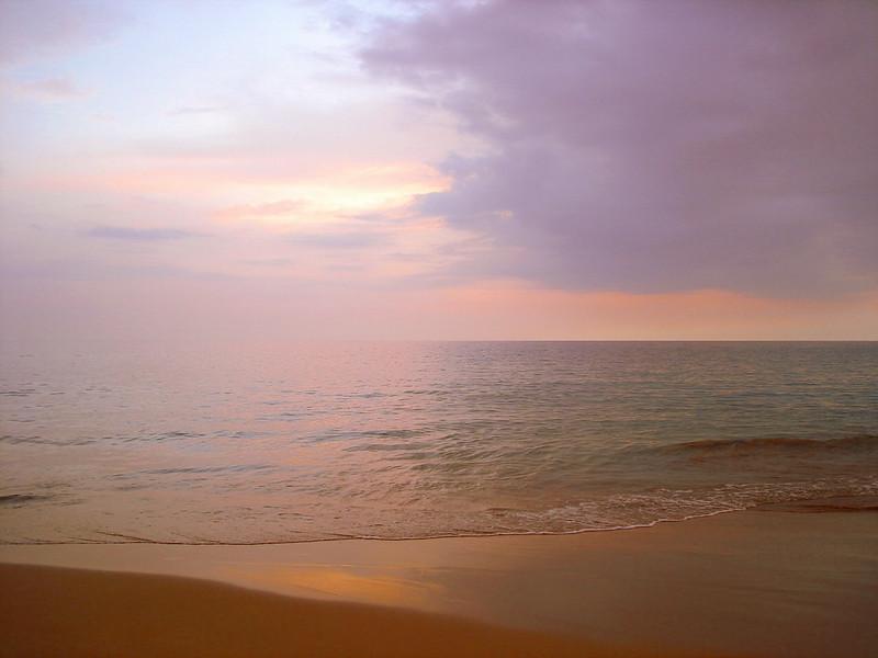 06/27/06: A stroll along the calm surf at dusk.