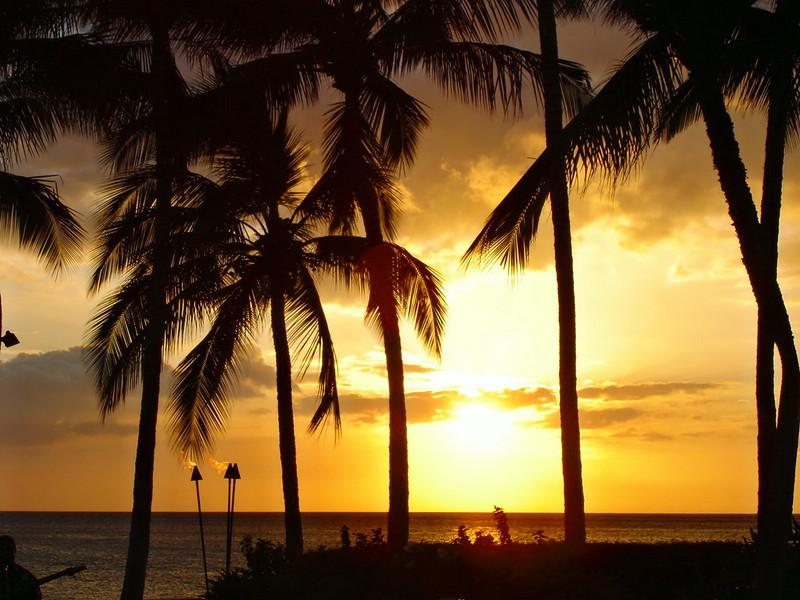 06/28/06: Sunset at Brown's Beach House, Kawaihae Bay