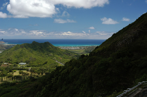 The view from Oahu-Nu'uanu Pali Lookout