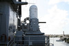 Pearl Harbour - USS Missouri.  This is one of the 20 mm Phalanx CIWS stations, which were added about the time of the Gulf War.