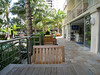 Honolulu - Wyland Hotel.  This is a Patio next to the Pool.  The Bar can be seen on the right side, through the open doors