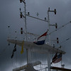 Flags flying on the ms Zaandam