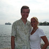 Susan and Erik on the shore of Kona