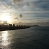 A view of Oahu from the ship