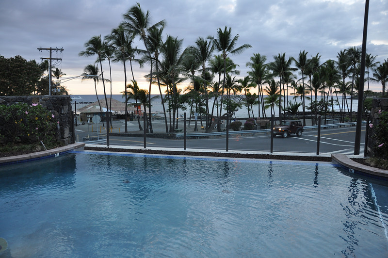May 20 - Our condo - Swimming pool overlooking Kahalu'u Beach Park.