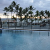 May 20 - Our condo - Swimming pool overlooking Kahalu'u Beach Park.