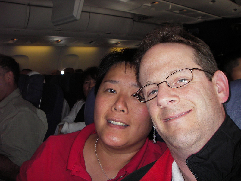 May 20 - Julia and Scott on the way to Honolulu.  Boy is Scott pale!