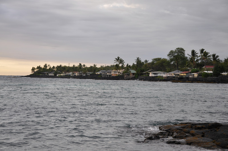 May 20 - Homes along Kahalu'u Beach Park