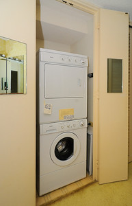 Stacking washer-dryer in the Master W/C