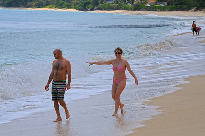 Eva and Imre on the beach at Waimanalo