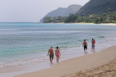 On the beach at Waimanalo