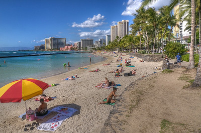 A quiet day at Waikiki Beach