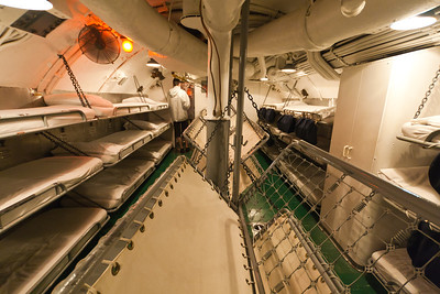 USS Bowfin sleeping quarters, Pearl Harbor