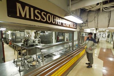 USS Missouri mess hall, Pearl Harbor
