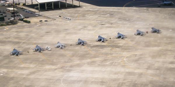 Harrier Jump Jets at Hickam Air Force Base