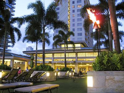 Relaxing at Embassy Suites Waikiki Beach Walk