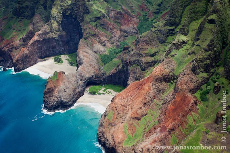"""Blue Hawaiian Helicopters """"Kauai Eco Adventure tour"""" - Na Pali Coast and Honopu Beach"""