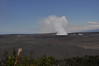 Inside the Kialuea Caldera is the Halema'uma'u  crater. Still quite active.
