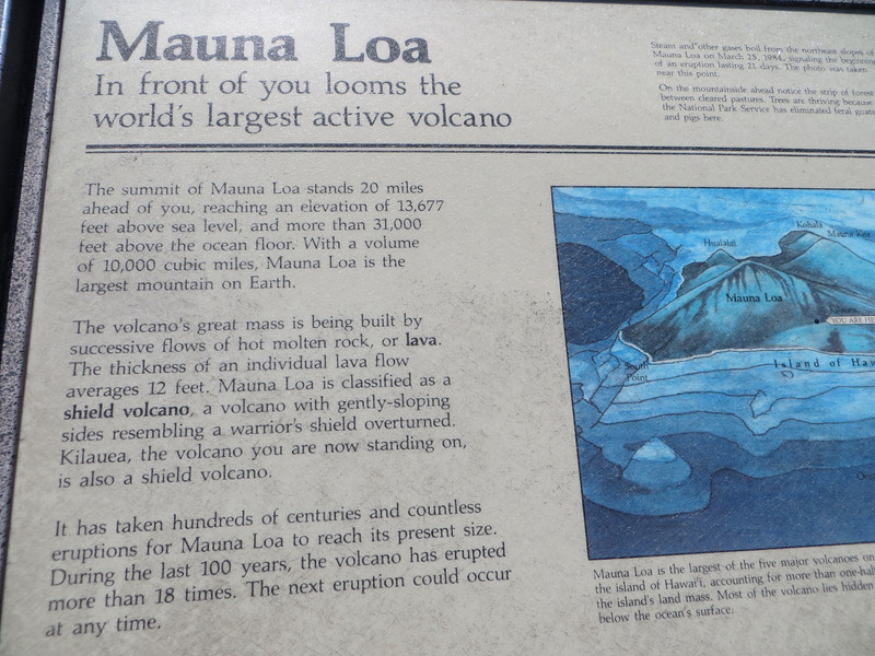 It took me a while to figure out that Kilauaea, while considered a separate volcano, actually is situated on the slopes of Mauna Loa.  It has its own magma chamber which I guess means it can call itself a separate volcano.