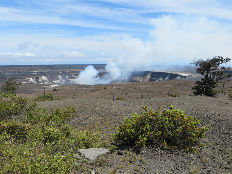The Kilauea Caldera.  The park's Visitor's Center is beside this caldera.