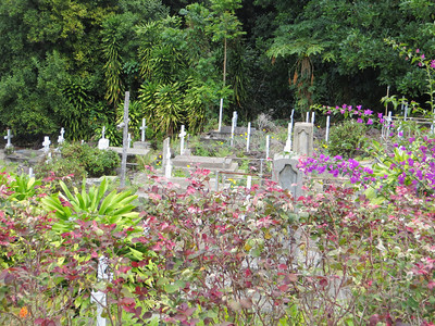 There was a very pretty cemetery next to the church.