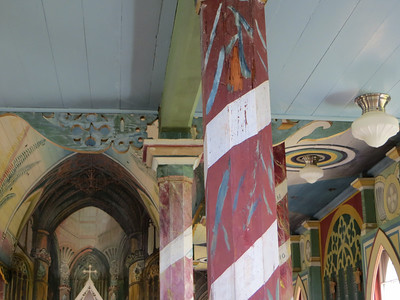 Almost every inch of the church's interior is painted.