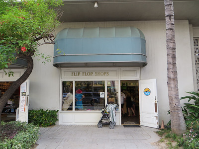 """Flip-flops or """"rubbah sleepahs"""" are everywhere in Hawai'i, so it's not surprising to see a store like this."""