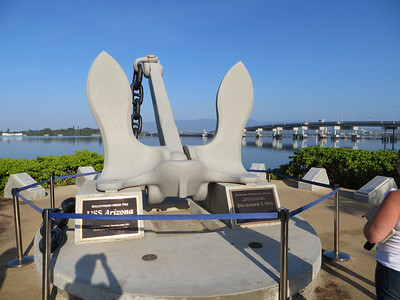 This massive anchor is a prominent feature.