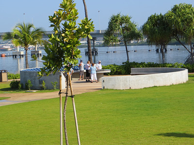 This memorial area commemorates ships that were lost, with a placard for each and the names of those who died.