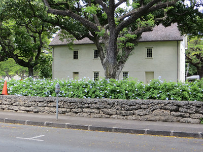 Across the street from the cemetery is the Mission Houses Museum.  This is a collection of several frame buildings that were the headquarters of the Sandwich Islands Mission.
