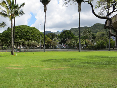Even in the middle of downtown Honolulu, the beautiful scenery is not that far away.