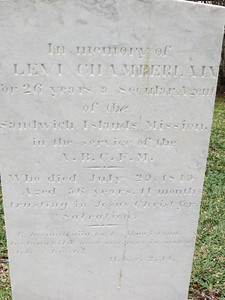 Levi Chamberlain, by all accounts a decent and gentle man, served as the mission's secular agent in Honolulu.