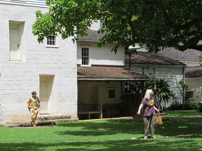 "The missionaries brought ""pre-fab"" New England style frame houses with them on their ships, ready to assemble in the new world.  Of course they were designed for bitterly cold New England winters, not the tropics, so they had small rooms with small windows, not the lovely verandas and high-ceilinged rooms open to the breezes that Hawaiian houses more typically have."
